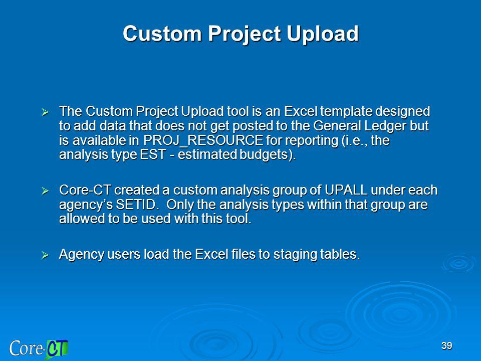 Custom Project Upload