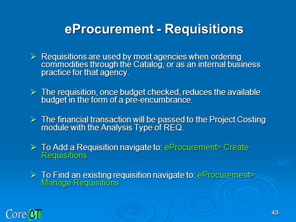 eProcurement - Requisitions