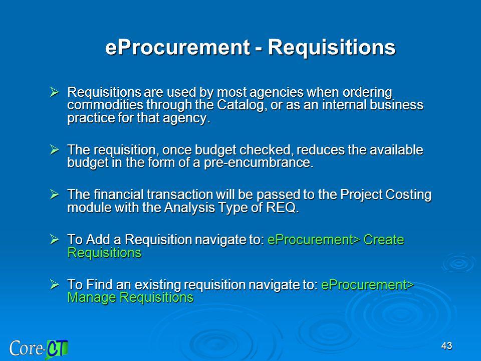 eProcurement - Requisitions