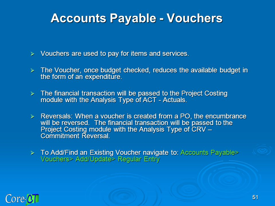 Accounts Payable - Vouchers