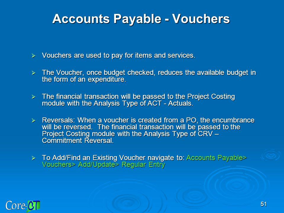 Accounts Payable - Vouchers