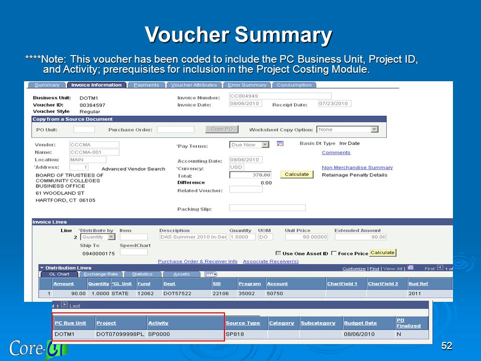 Voucher Summary