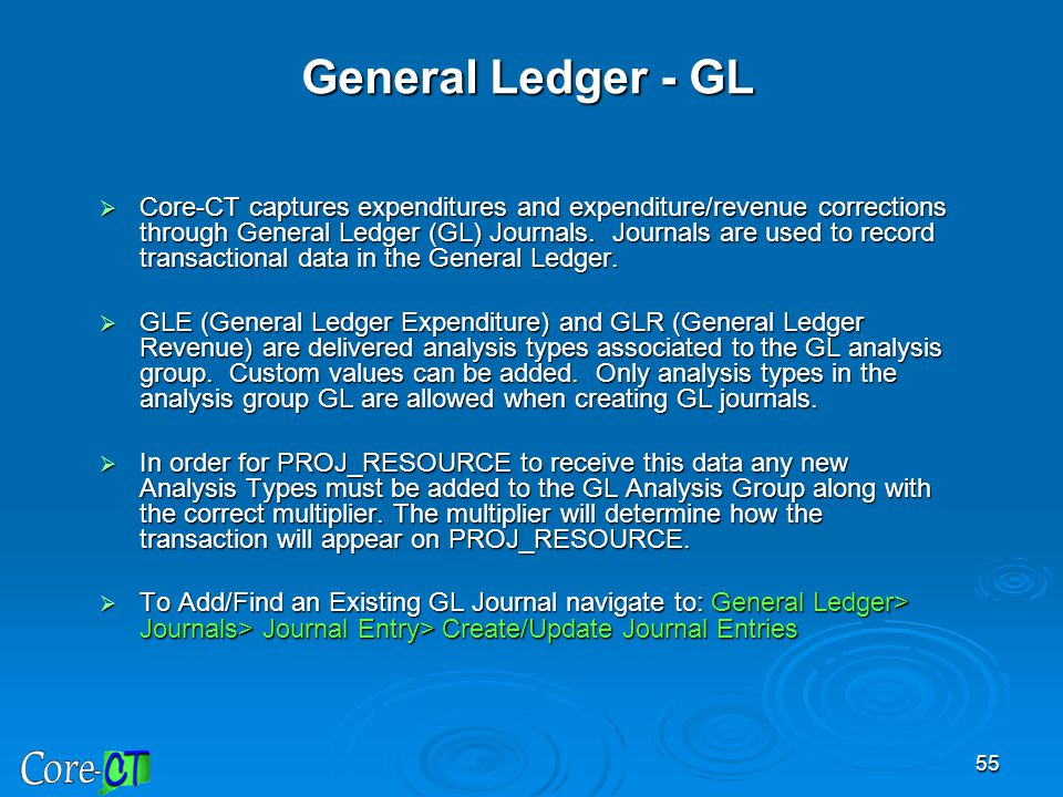 General Ledger - GL