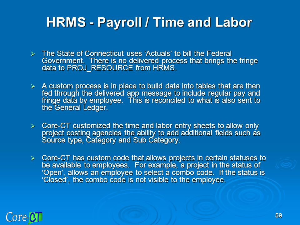 HRMS - Payroll / Time and Labor