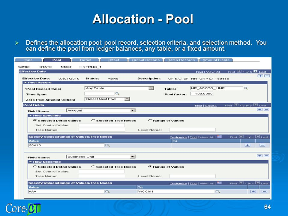 Allocation - Pool