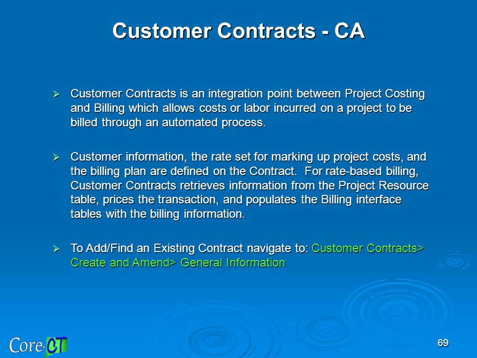 Customer Contracts - CA