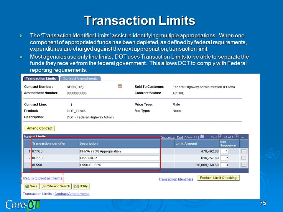 Transaction Limits
