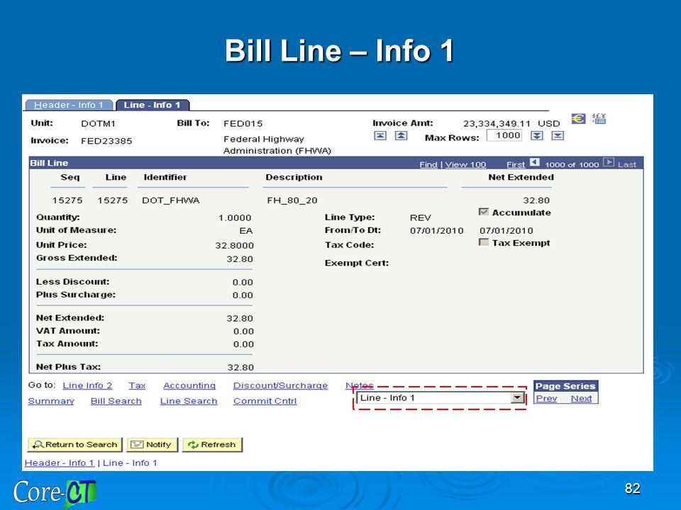 Bill Line – Info 1