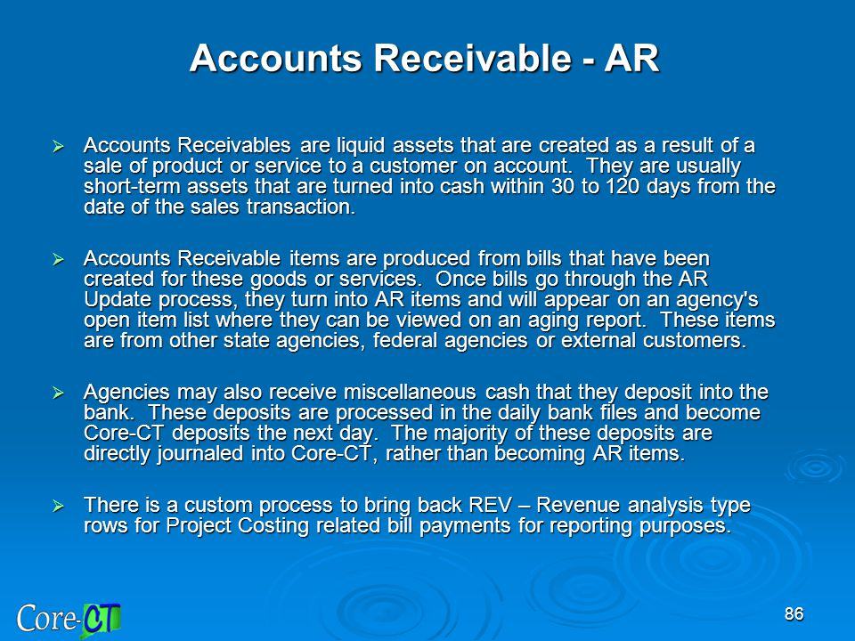 Accounts Receivable - AR