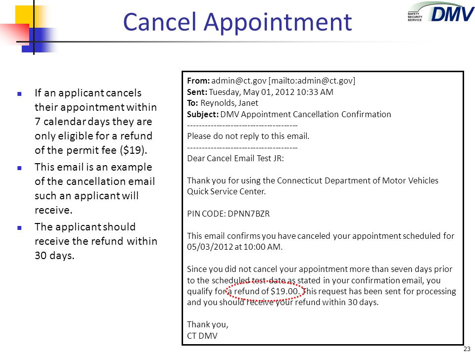 Cancel Appointment