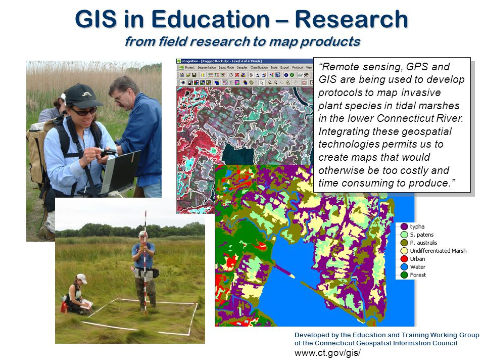 GIS in Education – Research from field research to map products