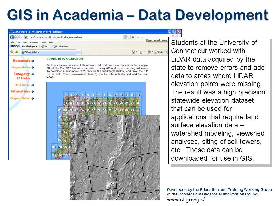GIS in Academia – Data Development
