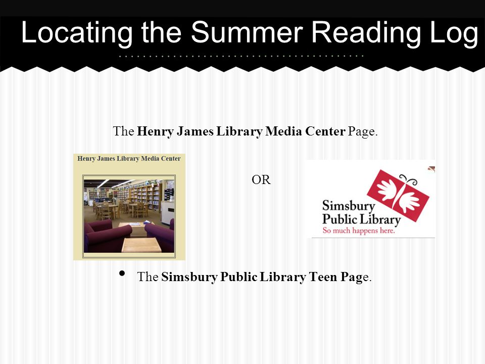 Locating the Summer Reading Log