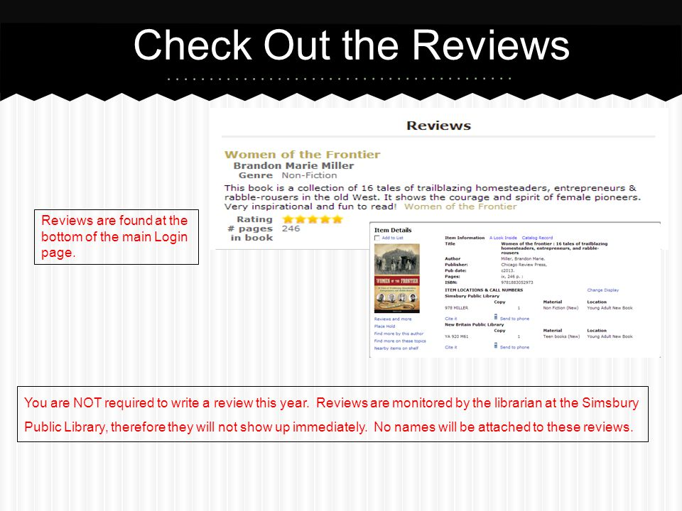 Check Out the Reviews Reviews are found at the bottom of the main Login page. Found at the bottom of the page.