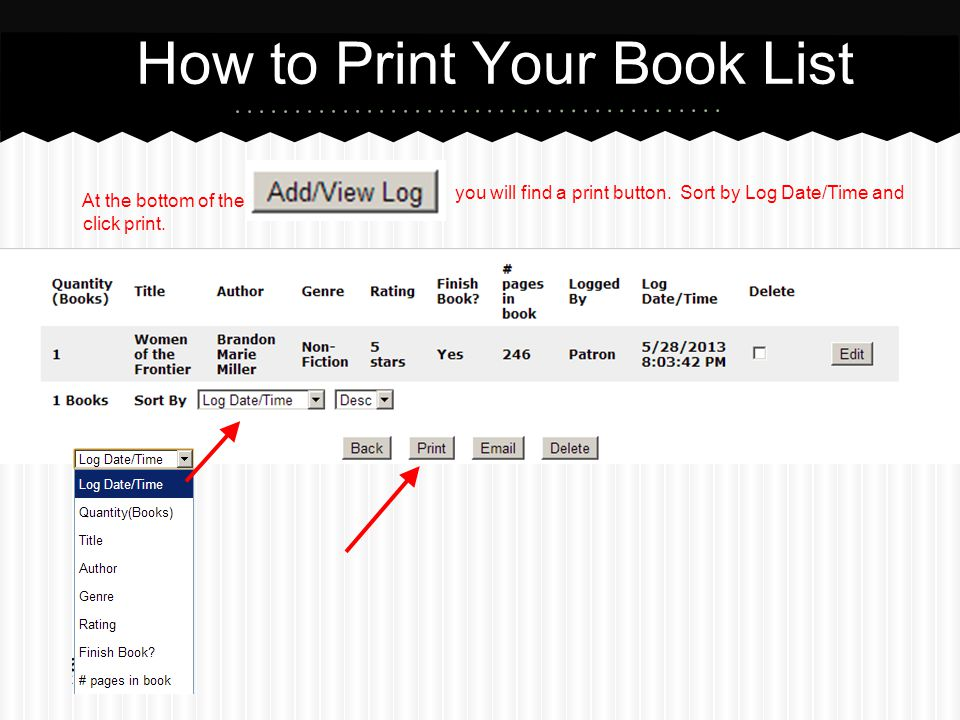 How to Print Your Book List
