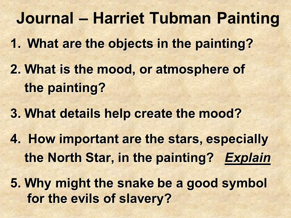 Journal – Harriet Tubman Painting