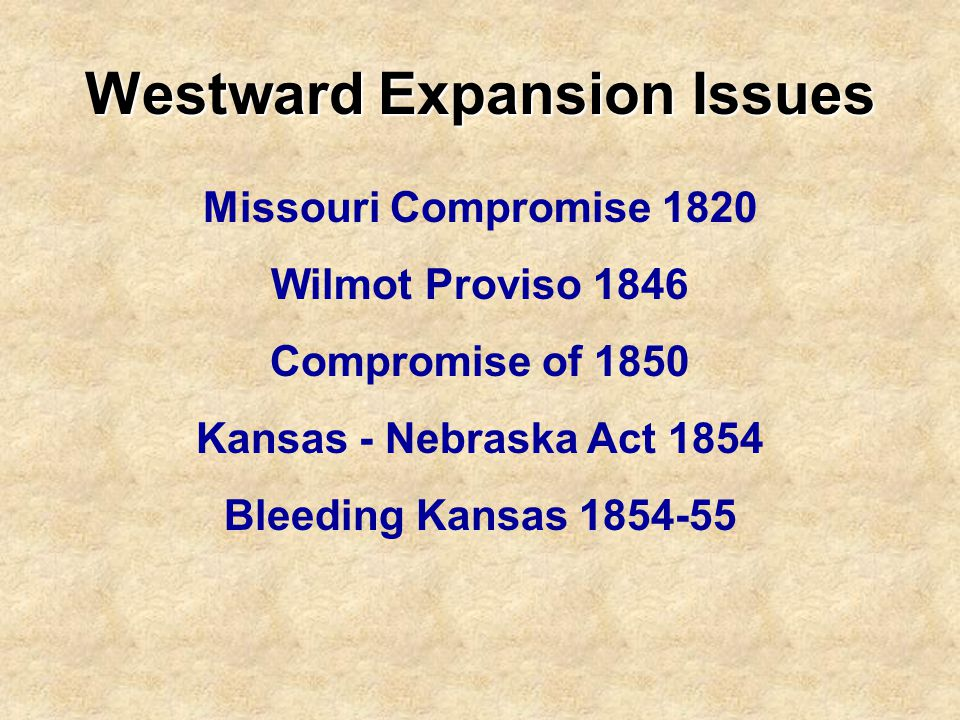 Westward Expansion Issues