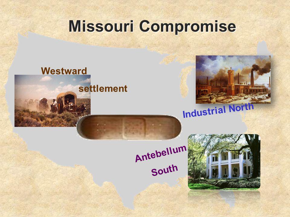 Missouri Compromise Westward settlement Industrial North Antebellum