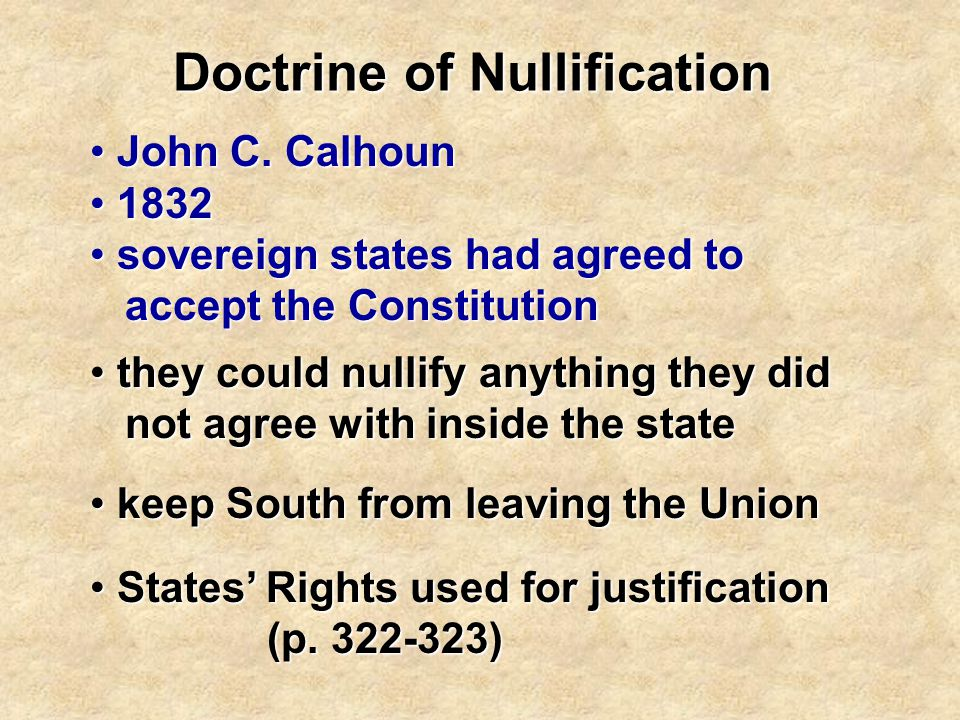 Doctrine of Nullification