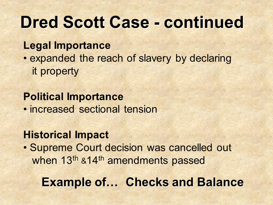 Dred Scott Case - continued