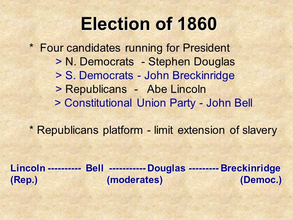 Election of 1860 > N. Democrats - Stephen Douglas