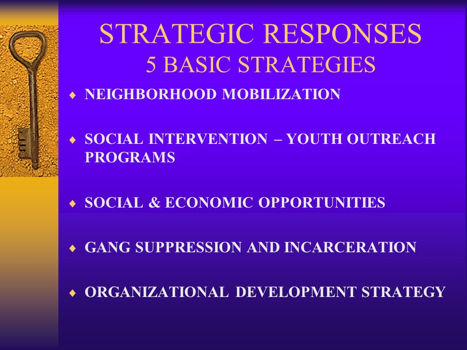 STRATEGIC RESPONSES 5 BASIC STRATEGIES
