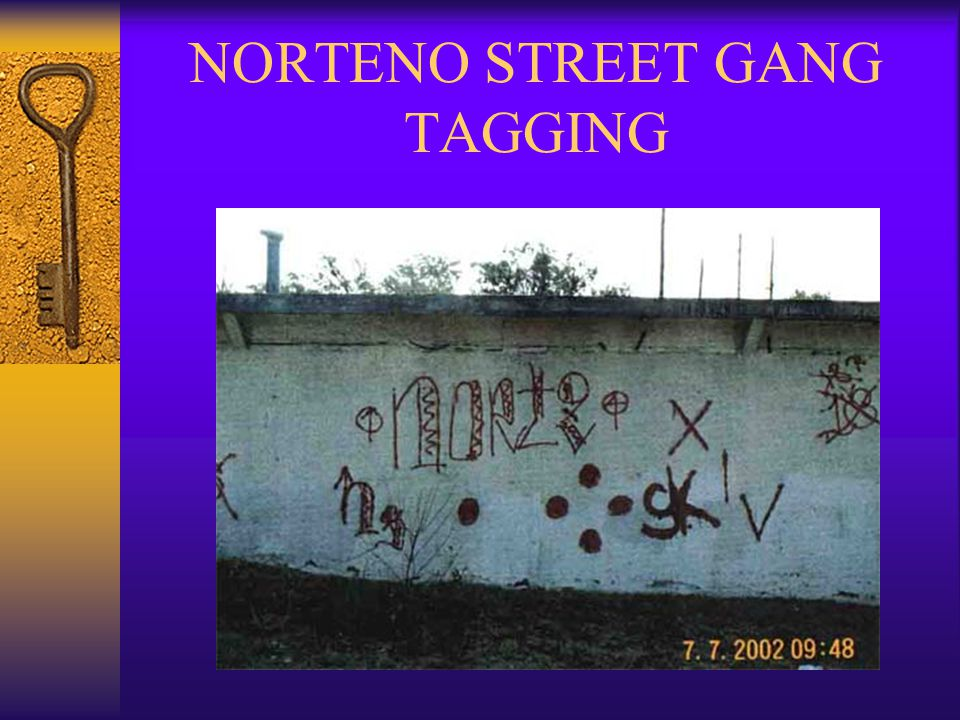 NORTENO STREET GANG TAGGING