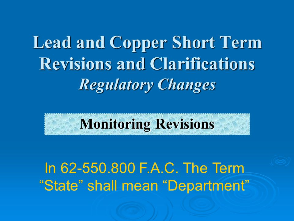 In 62-550.800 F.A.C. The Term State shall mean Department