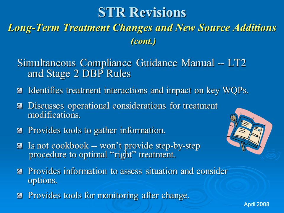 STR Revisions Long-Term Treatment Changes and New Source Additions (cont.)
