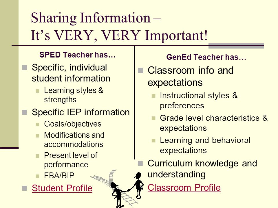 Sharing Information – It's VERY, VERY Important!