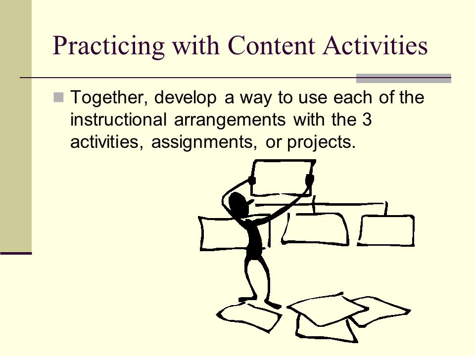 Practicing with Content Activities