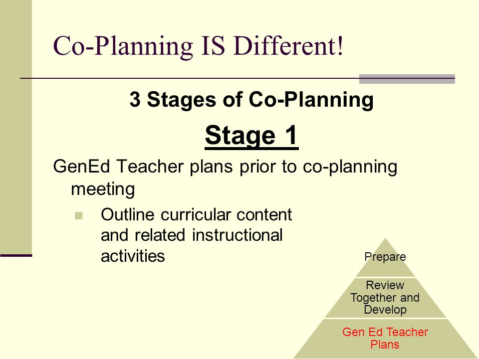 Co-Planning IS Different!