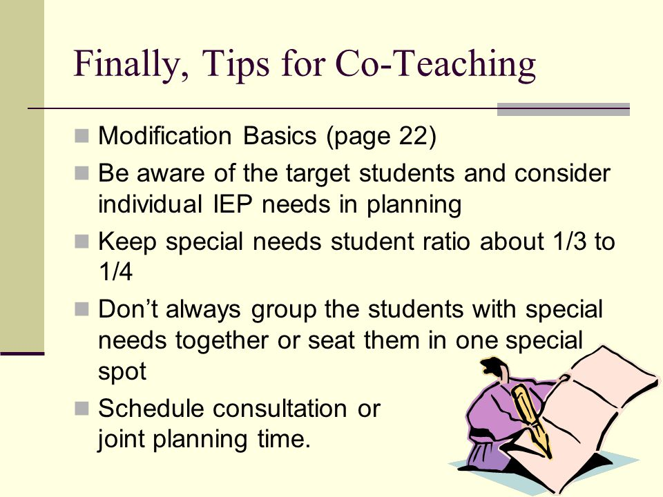 Finally, Tips for Co-Teaching