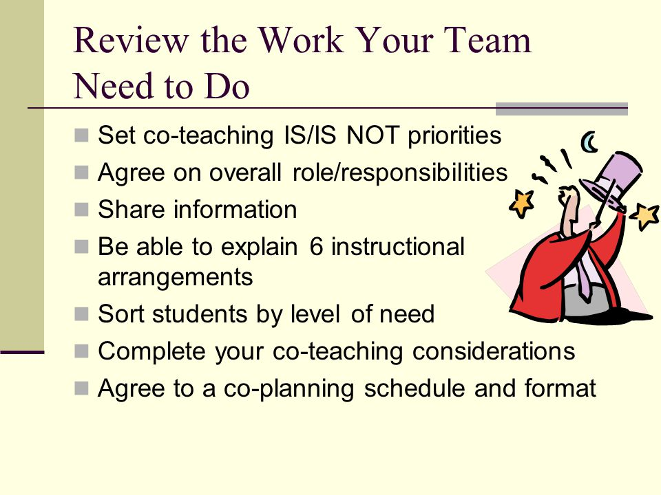 Review the Work Your Team Need to Do