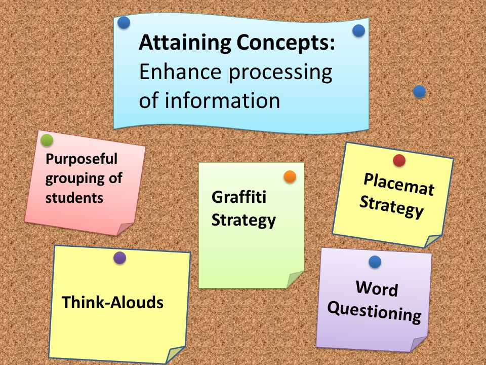 Enhance processing of information
