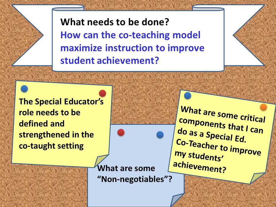 What needs to be done How can the co-teaching model maximize instruction to improve student achievement