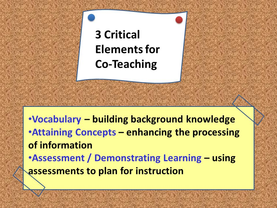 3 Critical Elements for Co-Teaching