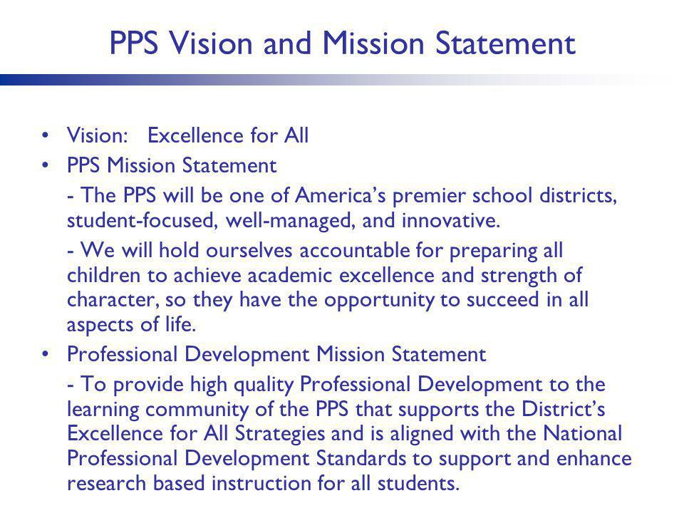 PPS Vision and Mission Statement