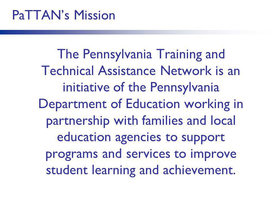 PaTTAN's Mission