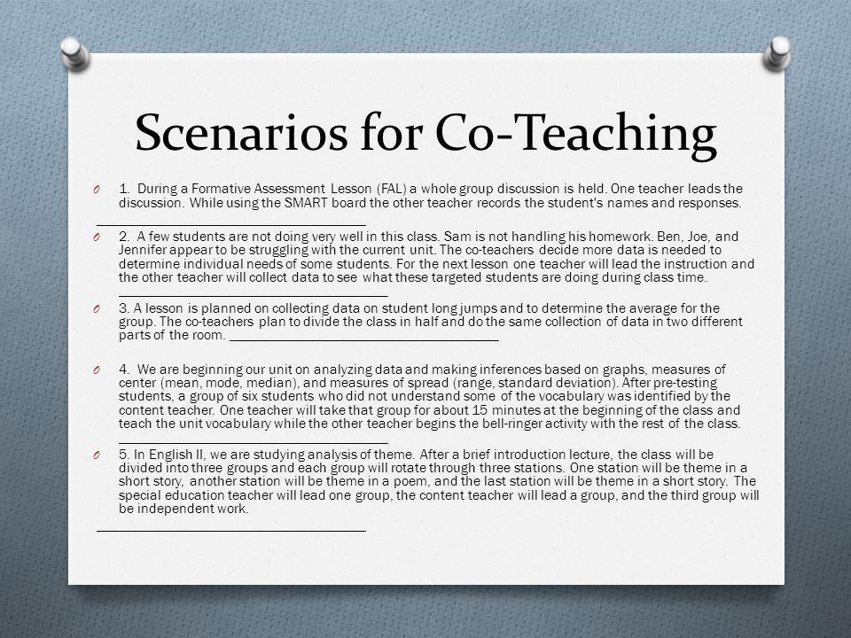 Scenarios for Co-Teaching