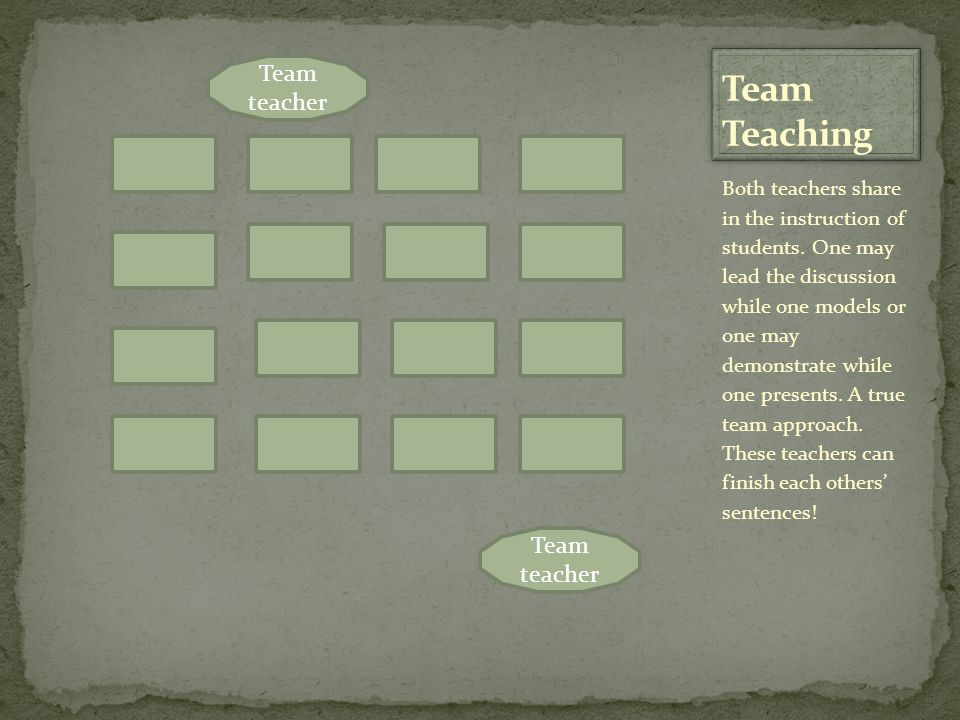 Team Teaching Team teacher Team teacher