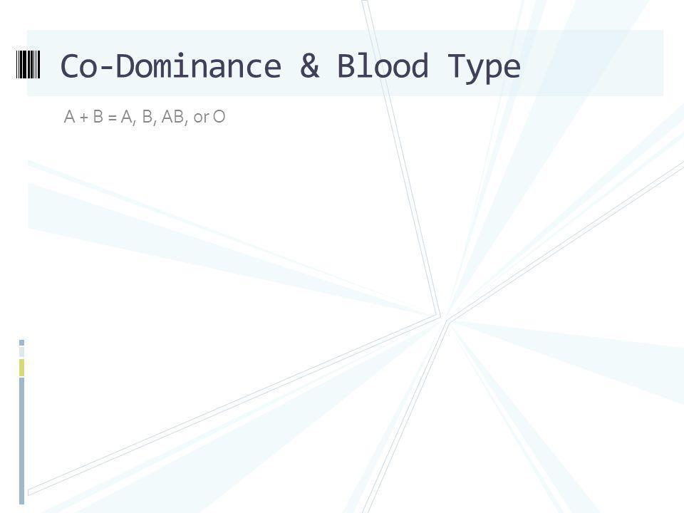 Co-Dominance & Blood Type