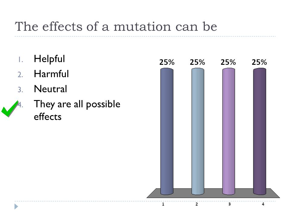 The effects of a mutation can be