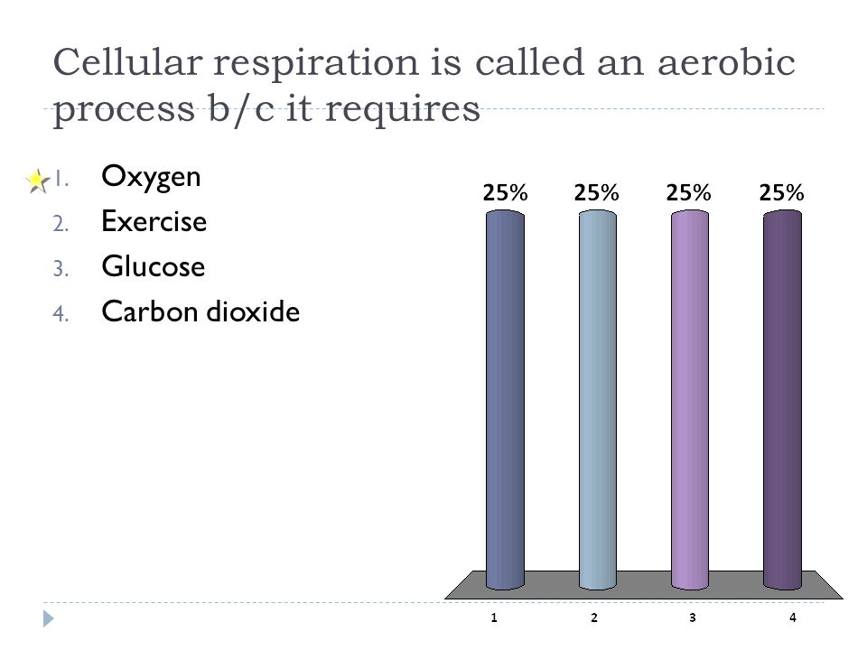 Cellular respiration is called an aerobic process b/c it requires