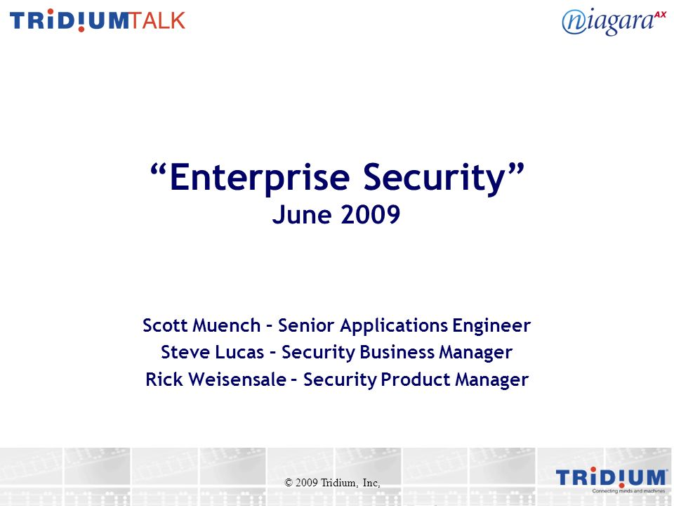 Enterprise Security June 2009