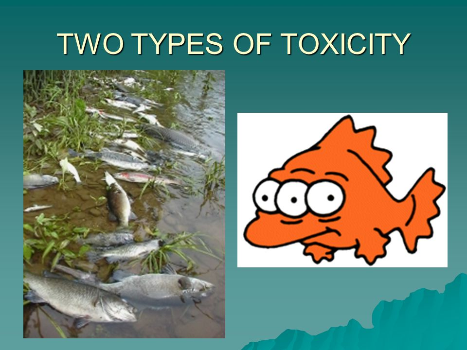TWO TYPES OF TOXICITY Chronic VS Acute