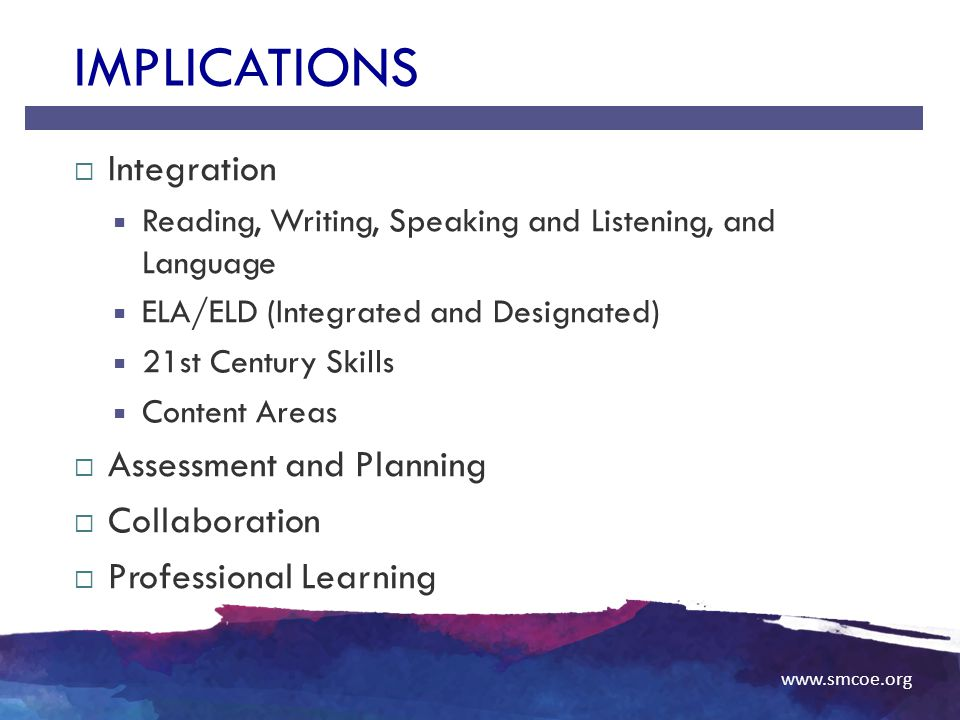 Implications Integration Assessment and Planning Collaboration