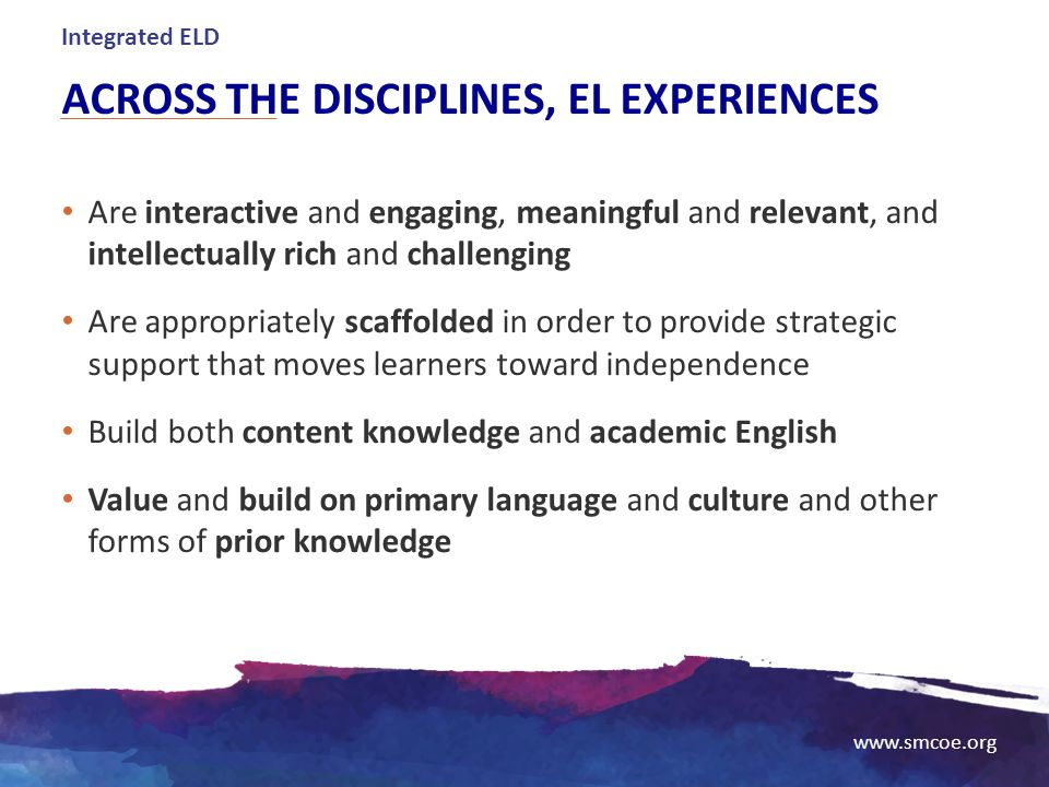 Across the disciplines, EL experiences
