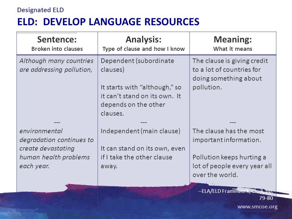 ELD: Develop language resources