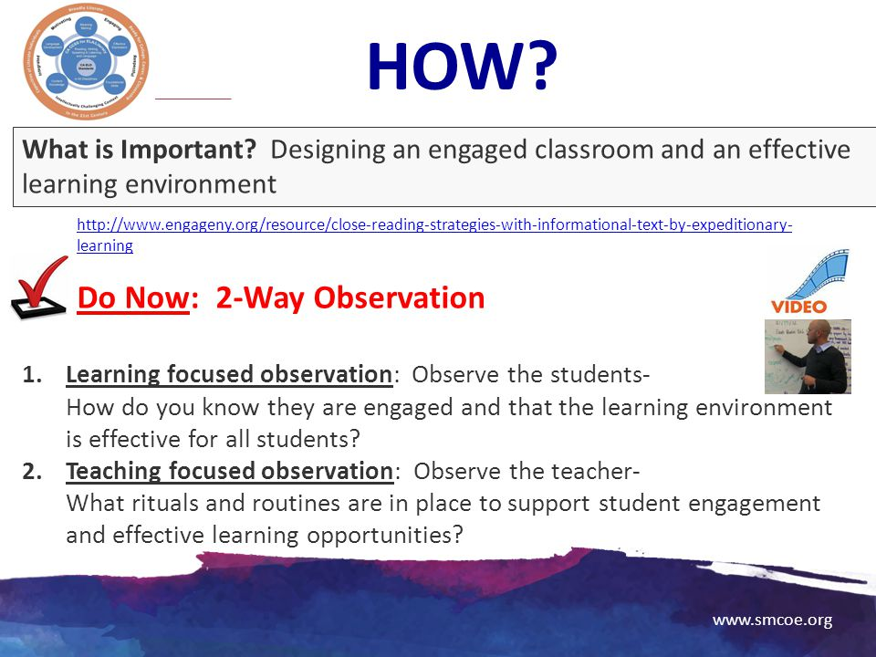 HOW Do Now: 2-Way Observation